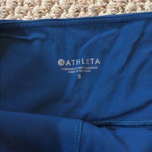 Athleta Blue Leggings Pockets Size Small S